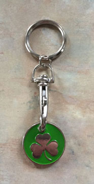 Irish Shamrock Trolley Keyrings